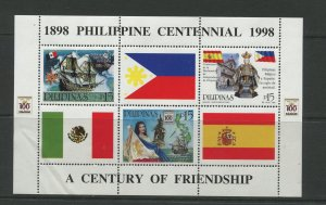 STAMP STATION PERTH Philippines #2539b Cent Indepen. Souvenir Sheet MNH CV$6.00
