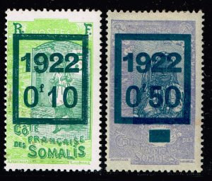 FRANCE STAMP COLONIES SOMALI COST 1922 Issues of 1915 Overprinted & Surcharged
