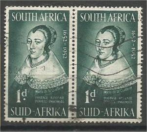 SOUTH AFRICA, 1952, used 1p, Maria de la Quellerie, Scott 116