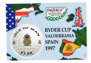ISLE OF MAN RYDER CUP SPAIN 1997  S/SHEET MNH PO FRESH