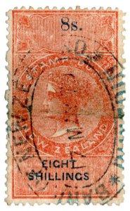 (I.B) New Zealand Revenue : Stamp Duty 8/- (inverted watermark)