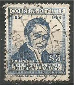 CHILE, 1955  used 3p ,Rengifo Scott 290