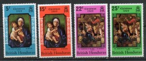 British Honduras MNH 247-50 Christmas 1969