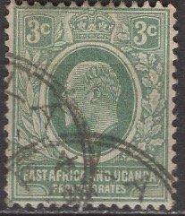 Kenya Uganda & Tanzania; 1921: Sc. # 2: O/Used Single Stamp