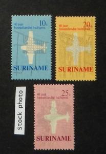 Surinam 375-77. 1970 Domestic Airmail Service, NH