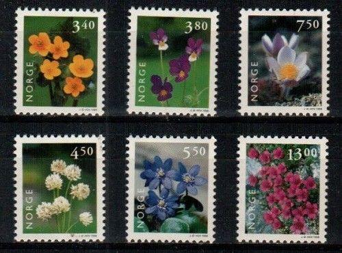 Norway Scott 1182-7 Mint NH (Catalog Value $15.00)