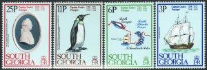 1979 South Georgia Captain Cook voyages complete set MNH Sc# 52 / 55 CV $6.75