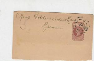 victorian circled N P B cancel + harrison on bk stamped postal wrapper ref 21347