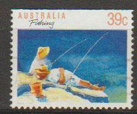 Australia SG 1179a FU - booklet stamp top imperf - perf 1...