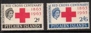 PITCAIRN ISLANDS SG34/5 1963 RED CROSS MNH