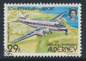 Alderney  SG A20  SC#  20  Aircraft Airport Used First Day Cancel - as per scan