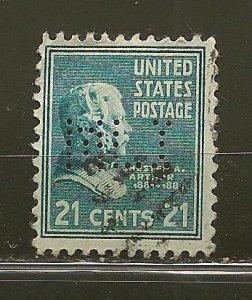 USA 826 MLI Perfin Used