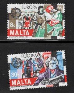 MALTA  Scott 614-615 Europa 1982 MNH** set