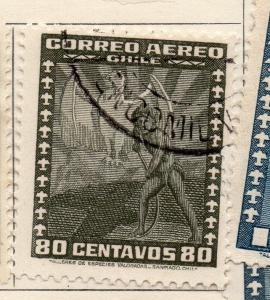 Chile 1934-36 Early Issue Fine Used 80c. 234728