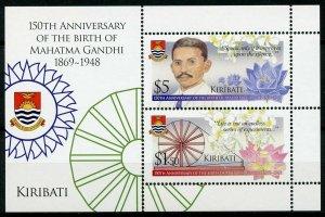 Kiribati Mahatma Gandhi Stamps 2019 MNH Famous People Historical Figures 2v M/S