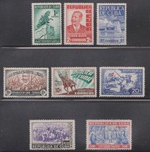 1948 Cuba Stamps Antonio Maceo Birth Centenary Complete Set  MNH