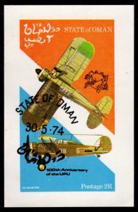 Oman - Cinderella Souvenir Sheet (Airplanes)