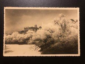 Christmas greeting postcard Latvia 1936