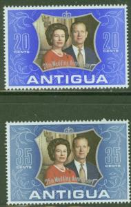 ANTIGUA Scott 295-296 Silver Wedding Anniversary MNH** set 1972