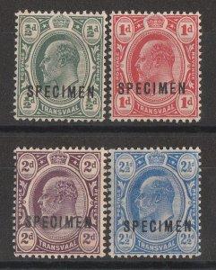 TRANSVAAL : 1905 KEVII set ½d-2½d, SPECIMEN, wmk mult crown. MNH **.