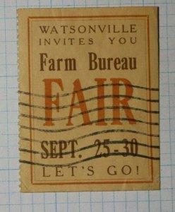 Farm Bureau Fair Watsonville Invites You Industry Poster Stamp Ads