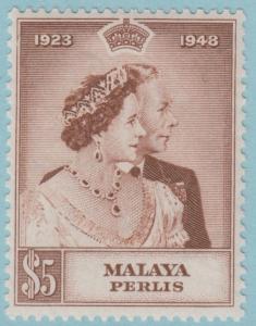 Malaya Perlis 2 Mint Hinged OG * - No Faults Extra Fine!