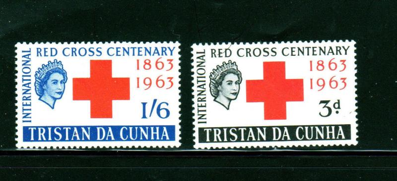 TRISTAN DA CUNHA #  1964  RED CROSS  MINT  VF NH  O.G  a