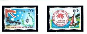 Cocos Is 32-33 MNH 1979 set     (KA)