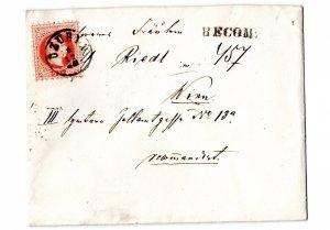 letter  1880 : dzuryn - wien , reco,