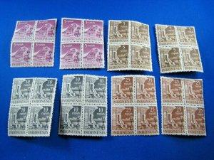INDONESIA - RIAU ARCHIPELAGO  1954  -  SCOTT # 19-22 -2 SETS BLKS 4 - MNH (Hi10)