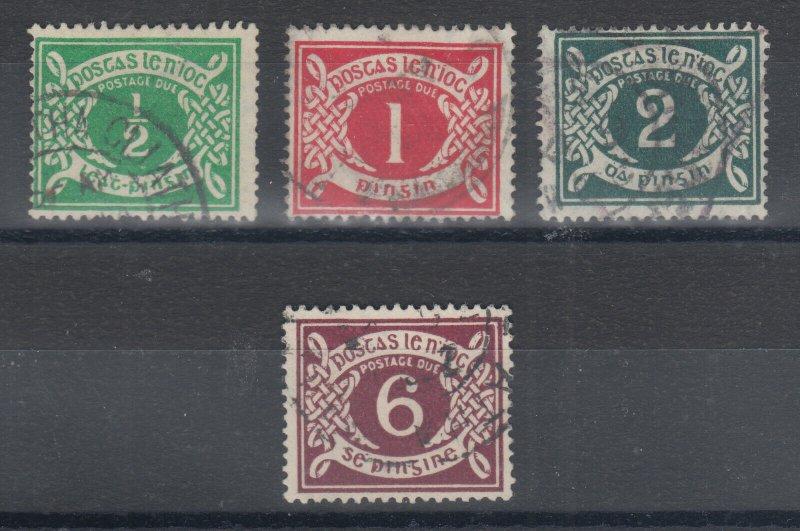 Ireland Sc J1-J4 used. 1925 Postage Dues, cplt set, sound.