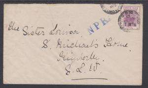 Orange River Colony Sc 45i on 1901 Cover to St. Michael's Home
