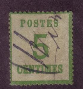 France Occupation Sc.# N4 Used Pen Cancel