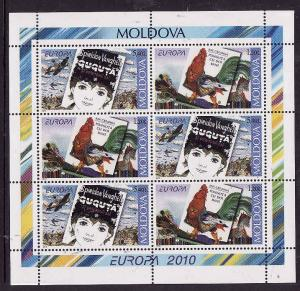 Moldova-Sc#722a-unused NH sheet-Planes-Rooster-Europa-2010-