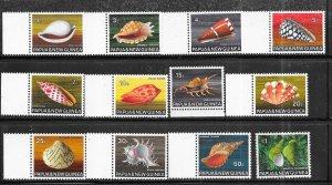 Papua & New Guinea #265-270,272-275,277-278 Sea Shells  (MN(LH)(U)8.90