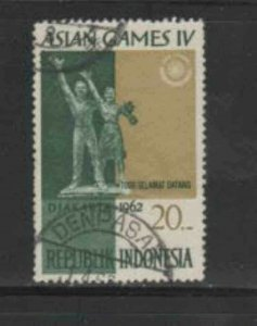 INDONESIA #573 1962 20r WELCOME MONUMENT F-VF USED a