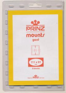 Prinz Scott Stamp Mount 111/91 CLEAR Background Pack of 6