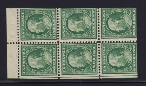 374a Booklet Pane F-VF OG lightly hinged nice color cv $ 225 ! see pic !