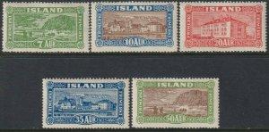 Sc# 144 / 148 Iceland 1925 complete ML-LMH set CV $275.00 Stk# 2