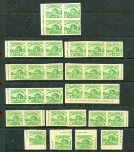 1933 Scott 730a Century Of Progress Sheet Singles & Multiples Lot Of 32
