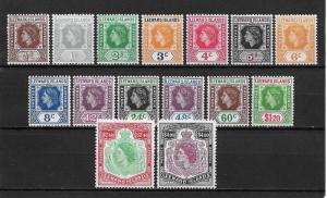 Leeward Islands Scott # 133-147 set VF OG LH with nice color scv $ 68 see pic !