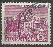 BERLIN, 1949, used 6pf  Schoeneberg Scott 9N45