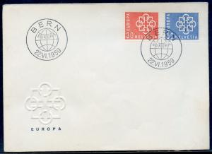 SWITZERLAND MICHEL#679/80 1959 EUROPA  FIRST DAY COVER