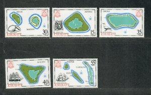 Kiribati Sc#475-479 M/NH/VF, Cv. $23.25