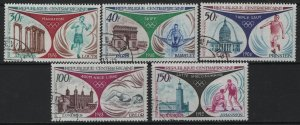 CENTRAL AFRICAN REPUBLIC,C105-C109, (5) SET, USED, 1972 Olympic games