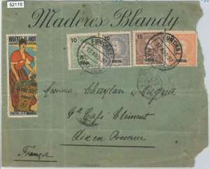 52116 - PORTUGAL Funchal - POSTAL HISTORY: COVER to FRANCE with POSTER STAMP