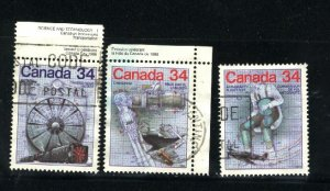 Can #1099-1101  used VF 1986 PD