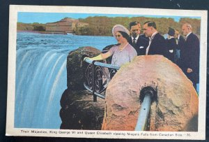 1941 Canada PPC Postcard cover To USA King George VI At Niagara Falls