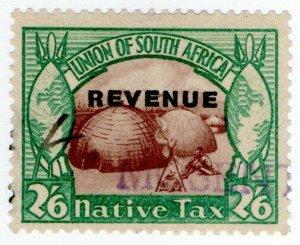 (I.B) South Africa Revenue : Native Tax 2/6d