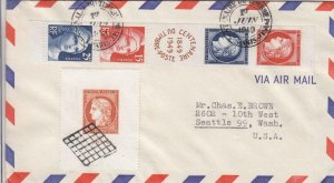 1949, France Sc #624, FDC, With Sc #615a (32055)